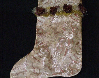 Paisley and Plum Roses Stocking