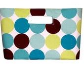 Mod Blue Circles Handbag