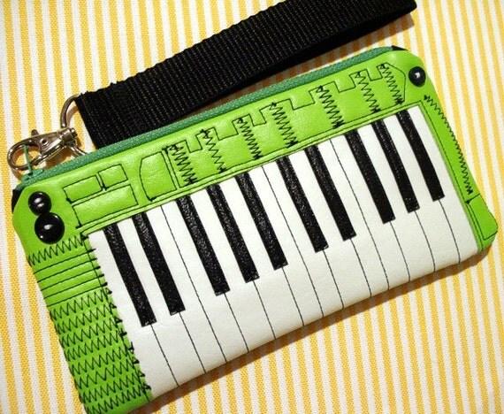 The ILITT-500 Keyboard Clutch Wallet with Detachable Wrist Strap- Neon Green