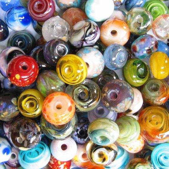 LAMPWORK 50 Orphan Grab Bag Frit Spacer Beads Lot sra