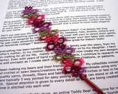Tatted Lace Bookmark - Your Color Choice - Made To Order