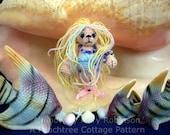 Thread Crochet Pattern - Miniature Mermaid Bear - PDF Format