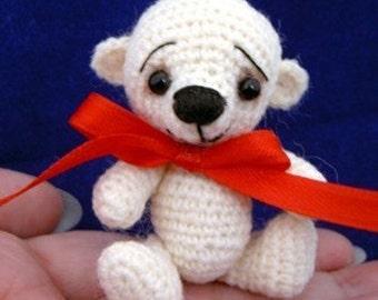 Amigurumi Bear Crochet Pattern - Thread Crochet Miniature Bear - PDF Format