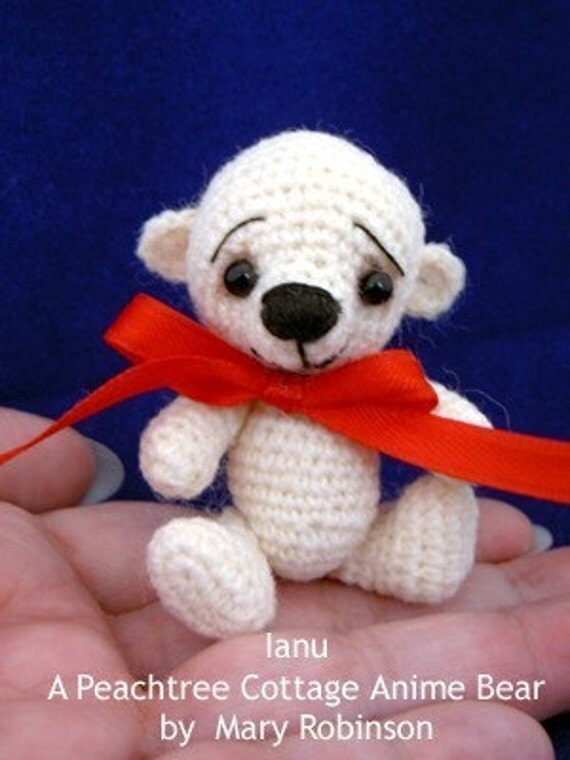 Amigurumi Mini Bear : Amigurumi Bear Crochet Pattern Thread Crochet Miniature Bear