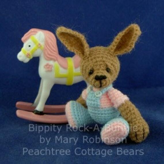 Miniature OOAK Bunny - Thread Crochet Artist Bear Friend - Bippity - Last Chance SALE