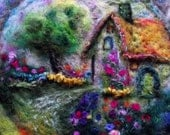 circle cottage in felt