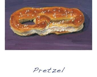 Pretzel - - hi quality archival print of original oil painting