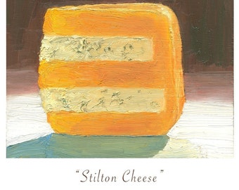 Huntsman Cheese - hi quality archival print of original oil painting
