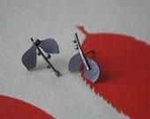 Tiny Budding Leaf Earrings...
