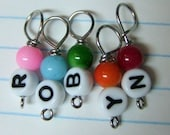 Personalized Name Stitch Markers - Names 6-9