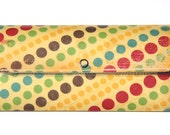 Long Wallet or Small Clutch - Carnival Lights