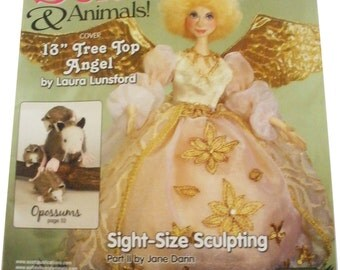 SOFT DOLLS & ANIMALS Magazine- January 2010, tutorials, project, doll making, quilting, sewing, bear making, toys, techniques