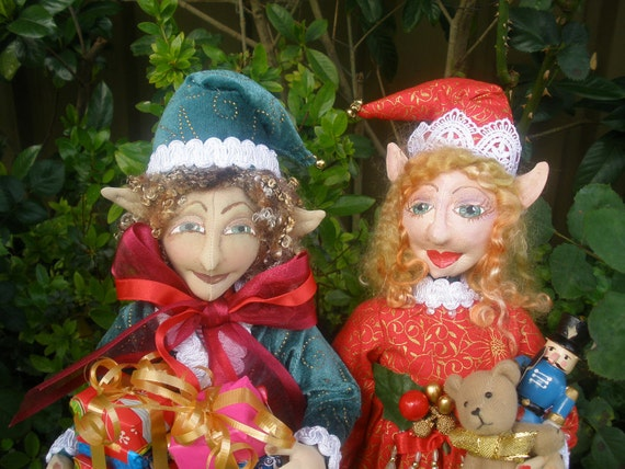 E- Pattern, PIPPA & OLIVER, Christmas Elves, Pattern, E-Pattern,  Cloth Dolls, Christmas, Tutorial, DIY, bambole designs, Michelle Munzone
