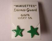 1970s DEADSTOCK MINI GREEN STAR EARRINGS