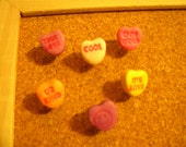Valentine Candy Heart Pushpins FREE SHIPPING