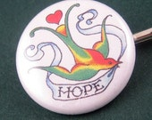 Hope 1 inch Button Bobby Pins