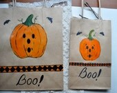 Three Custom Halloween Gift Bags For Andrea OOAK Hand Painted