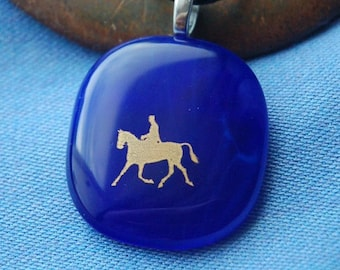 Horse necklace Equine Jewelry Horse and Rider