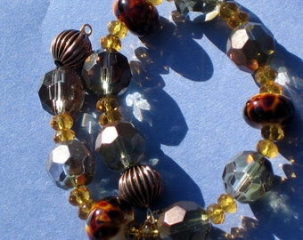 Harvest Copper and Glass Bracelet