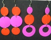 CLEARANCE 2 pairs Upcycled Retro Earrings with Sterling