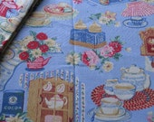 Country Cottage Kitchen Tea Tablecloth - In Blue