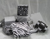 GIFT BOXES in Black & White - Hand made Origami