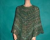 KNC Coming Home Martha Stewart Crochet  Poncho Regency Sz S-M
