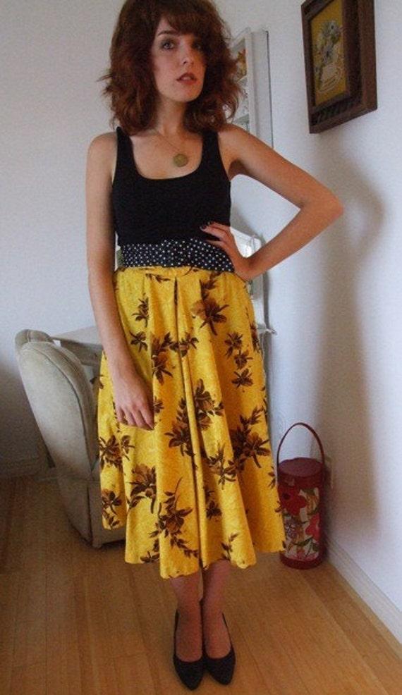1950s hawaiian circle skirt vintage