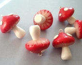 Little Toadstool Charms (6 pc) - Gearbunny