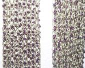 Amethyst Seafoam Beaded Scarf Handknit Hummingbird Yarn Art