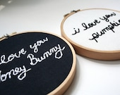 Hand Embroidery Hoop Set - Pumpkin and Honey Bunny