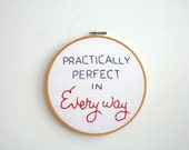 Hand Embroidery Hoop - Mary Poppins