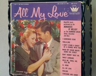 All My Love Record Album Tote Bag