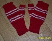 SALE Team Spirit Fingerless Gloves Red and White
