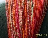 Hanspun, hand dyed, Tuttie Frutie yarn