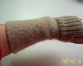 Felted Wrist Warmers\/ Fingerless Gloves