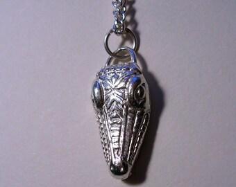 Custom made alligator head charm pendant