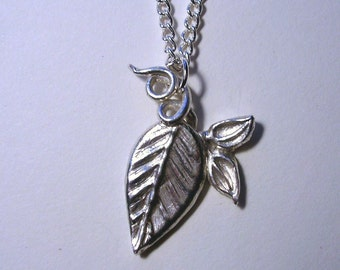 Custom order Through the vine fine silver necklace