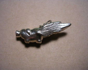 Custom order flying pig pendant Olde Style pig number 1 first version wing type