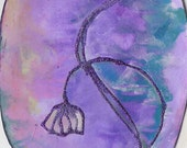 Flower - egg shaped original card