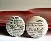 True Love - Vintage Dictionary Pins
