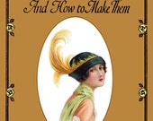 1925 Millinery Book Flapper Hat Making Make Roaring 20s Prohibition Hats Patty DIY Milliner