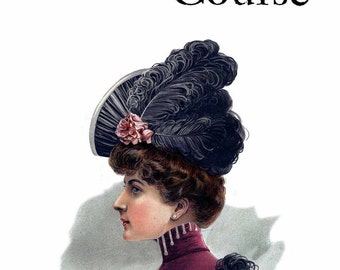 1909 Edwardian Gibson Girl Era Millinery Book Make Hats Hat Making Milliner DIY Guide Text