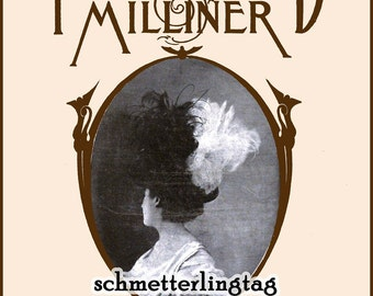 1908 MILLINERY Book Illustrated Millinery Hat Making Make Edwardian Gibson Girl Hats 9/1 Milliner DIY Guide