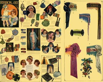 1925 Vintage FLAPPER Roaring 20s Millinery Hat Making Ribbon Work Flower Making CD eBook