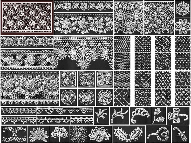 1910 gibson girl irish crochet book laces lace flower motif zoom bankloansurffo Gallery