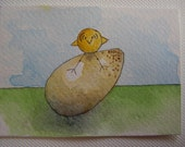 Chickie and Egg ACEO