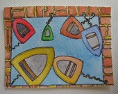 Boats ACEO