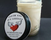 Vanilla Smoothie Soy Blend Jelly Jar Container Candle 7 Ounces AuntieDis