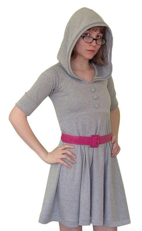 Hooded jersey babydoll dress -- choose your size and color